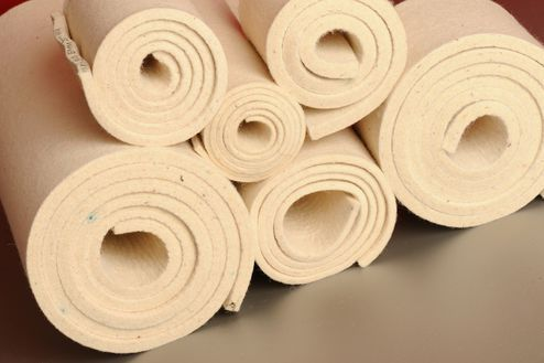 W100-weiß, hart Filz (0,44 g/cm3), 100 % Wolle