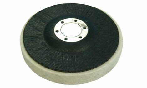 Filz-Polierscheibe auf Glasfaser-Platte - mittlere Dichte 0,44 g/cm3