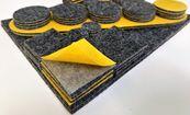 Set selbstklebende Filzgleiter - anthracit, 84 Stück, verschiedene Größen
