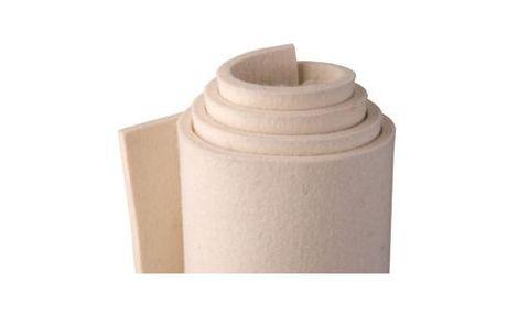 W80-weiß, fein Filz(0,24 g/cm3), 80 % wool/20%-Kunstfasern