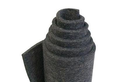 G80-grau, fein Filz(0,24 g/cm3), 80 % wool/20%-Kunstfasern